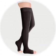 Чулки с простой резинкой на силиконовой основе с открытым носком, 2 класс компрессии